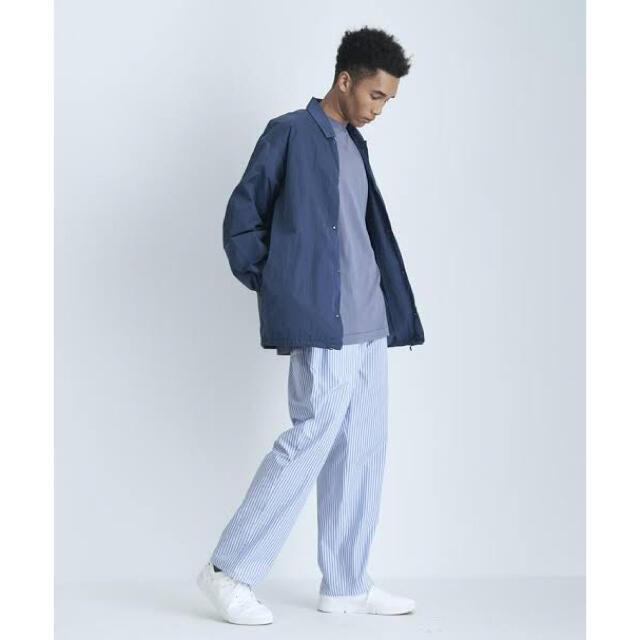 COMOLI(コモリ)の新品21SS 定価6.1万 ATON エイトン ナイロンコーチジャケット 04紺 メンズのジャケット/アウター(ナイロンジャケット)の商品写真