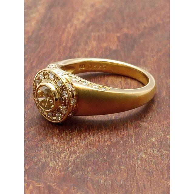 艶消しが素敵です!K18WGダイヤリング 14号 レディースのアクセサリー(リング(指輪))の商品写真