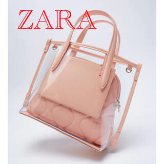 ZARA - ZARA クリアミニトートバッグ 3way