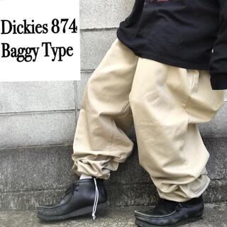 Dickies - ディッキーズ 874 チノパン バギーパンツ バルーン 裾絞り ドローコード
