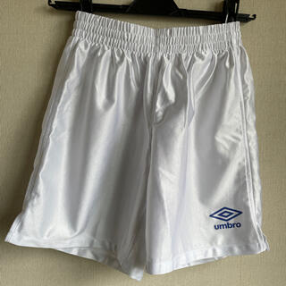 アンブロ(UMBRO)のunbro アンブロ サッカー ホワイト短パン 150センチ(ウェア)