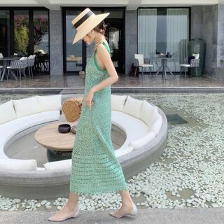ビームス(BEAMS)の美品【 Turquoise 】 summer dress free size (その他)