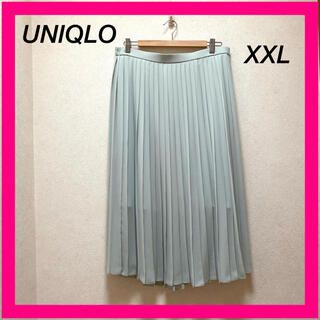 UNIQLO - UNIQLO ユニクロ プリーツスカート XXL  サイズ ミントグリーンカラー