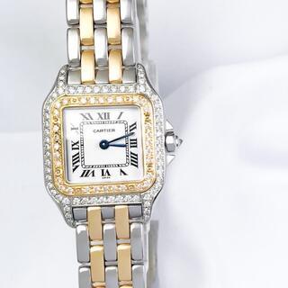 Cartier - 【仕上済】カルティエ パンテール SM 2ロウ コンビ ダイヤ 腕時計