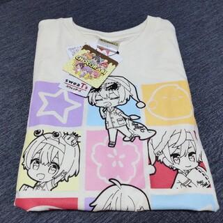 シマムラ(しまむら)のちょこらび しまむらコラボ Tシャツ Lサイズ ホワイト(Tシャツ/カットソー(半袖/袖なし))