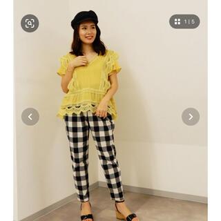 BARNEYS NEW YORK - ヴェロフォンナ 美品 ギンガムチェックパンツ 21384円