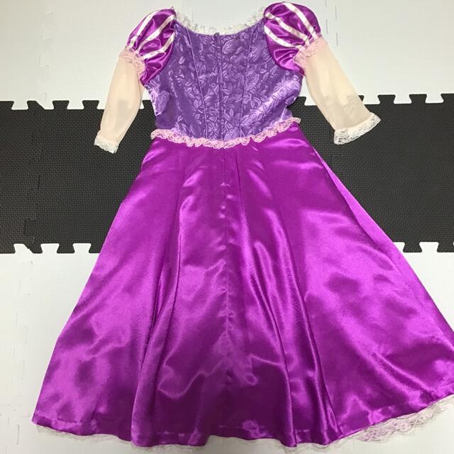 Disney(ディズニー)のラプンツェル ドレス 衣装 120 ビビディバビディブティック キッズ/ベビー/マタニティのキッズ服女の子用(90cm~)(ワンピース)の商品写真
