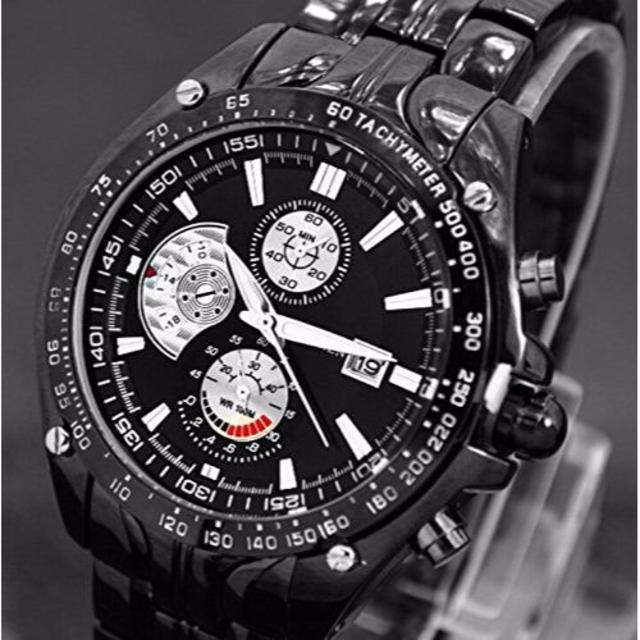 【新品 人気ブランド】 CURREN 腕時計 ブラック/ブラック メンズの時計(腕時計(アナログ))の商品写真
