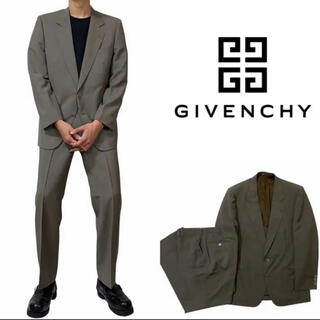 GIVENCHY - GIVENCHY ジバンシー モスグリーン ウール セットアップ 古着 レトロ