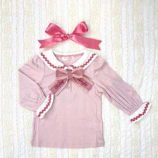 Shirley Temple - 新品 シャーリーテンプル セーラー リボンカットソー 130cm ピンク