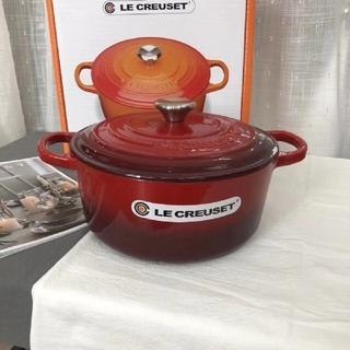 LE CREUSET - ♥フランスのLe Creuset丸型のクラシックな鍋 煮立つのもokです