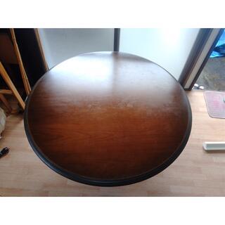 カリモクカグ(カリモク家具)の【中古】カリモク ダイニングテーブル 120cm  円卓(送料込)(ダイニングテーブル)