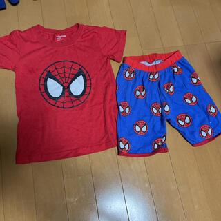 ベビーギャップ(babyGAP)のスパイダーマン 記名有 上下 セットアップ パジャマ babygap110cm(パジャマ)