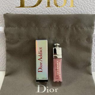 ディオール(Dior)のディオール♡アディクトリップマキシマイザー001  ピンク、巾着付き(リップグロス)