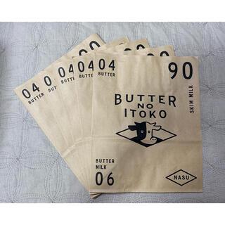 バターのいとこ 紙袋5枚(ショップ袋)