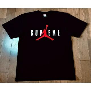 新品 supreme jordan Tシャツ ブラック ジョーダン シュプリーム