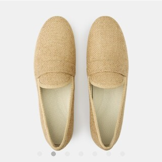 ムジルシリョウヒン(MUJI (無印良品))のタグ付新品 無印良品 ジュートオペラシューズ24.5cm・生成(ローファー/革靴)