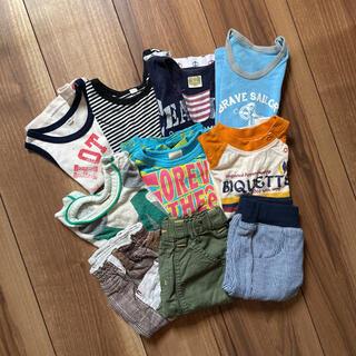 男の子 おまとめ10点セット 半袖Tシャツ ノースリーブ ハーフパンツ 80(Tシャツ)