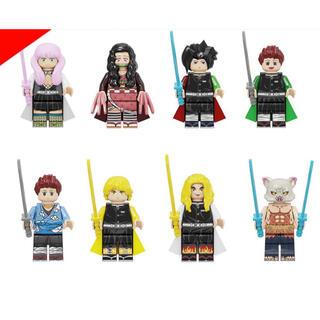 鬼滅の刃 ミニフィグ LEGOレゴ交換 8体セット(知育玩具)