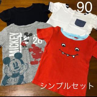 シンプルTシャツセット4枚セット(Tシャツ/カットソー)