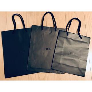 アイシービー(ICB)の3枚 iCB ショップバッグ ショッパー アイシービー 紙袋 Shop Bag(ショップ袋)