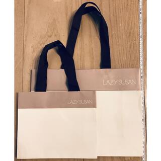 レイジースーザン(LAZY SUSAN)の2枚 LAZY SUSAN ショップバッグ 中 小 ショッパー ギフトバッグ 袋(ショップ袋)