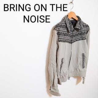 ブリングオンザノイズ(BRING ON THE NOISE)のBRING ON THE NOISE 幾何学模様 ナイロンジャケット(ナイロンジャケット)