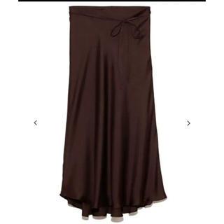 Mila Owen - Mila Owen テールサテンスカート ロングスカート サテンスカート