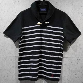 【送料込】M★マリンスタイル BLACK ボーダーデザイン ポロシャツ★(ポロシャツ)