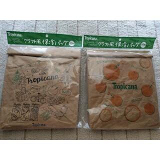 トロピカーナ クラフト風 保冷バック(弁当用品)