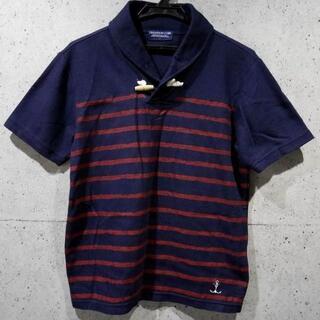【送料込】M★マリンスタイル NAVY ボーダーデザイン ポロシャツ★(ポロシャツ)