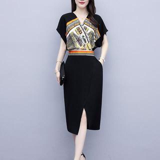【新商品】スカーフ柄 ワンピース ドレス タイトスカート