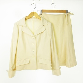 ハロッズ(Harrods)のセットアップ スカートスーツ 上下セット スカート アイボリー 白 IBS63(スーツ)