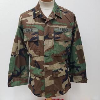 USED 米軍実物 ウッドラウンド迷彩 コンバット ジャケット COMBAT J(ナイロンジャケット)