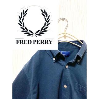 フレッドペリー(FRED PERRY)のヴィンテージFred Perry Made in Japan ネイビーポロシャツ(ポロシャツ)
