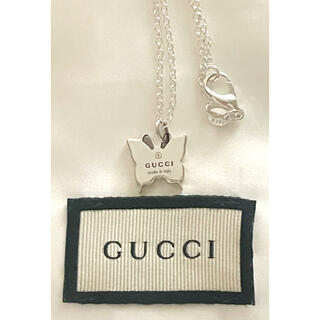 Gucci - GUCCI バタフライチャームネックレス