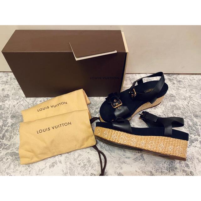 LOUIS VUITTON(ルイヴィトン)の【LOUIS VUITTON】ルイヴィトン ウェッジソールサンダル レディースの靴/シューズ(サンダル)の商品写真