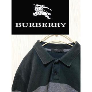 バーバリーブラックレーベル(BURBERRY BLACK LABEL)のBURBERRY BLACK LABEL ブラックストライプポロシャツ (ポロシャツ)