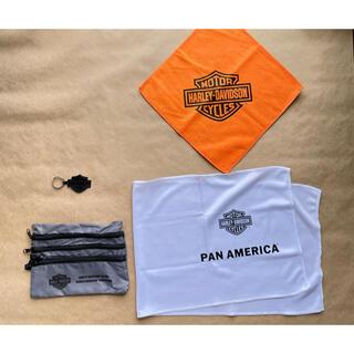 Harley Davidson - ハーレーダビットソン ポーチ小物入れ タオル キーホルダー4点セット