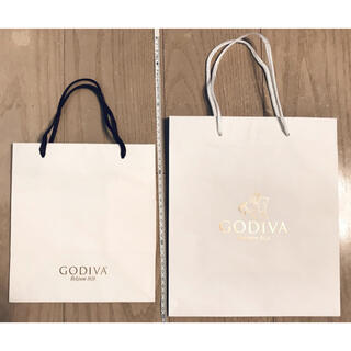 2枚 GODIVA ゴディバ ショッパー ショップバッグ チョコレート ギフト(ショップ袋)