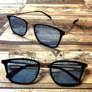 ゴールドメタル ライトブルー ウェリントン サングラス ボストン 眼鏡