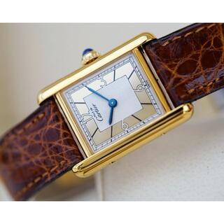 Cartier - 美品 カルティエ マスト タンク ゴールドフレーム アラビア SM