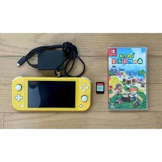 ニンテンドースイッチ(Nintendo Switch)のSwitch スイッチ ライト あつまれどうぶつの森 ソフト セット(携帯用ゲーム機本体)
