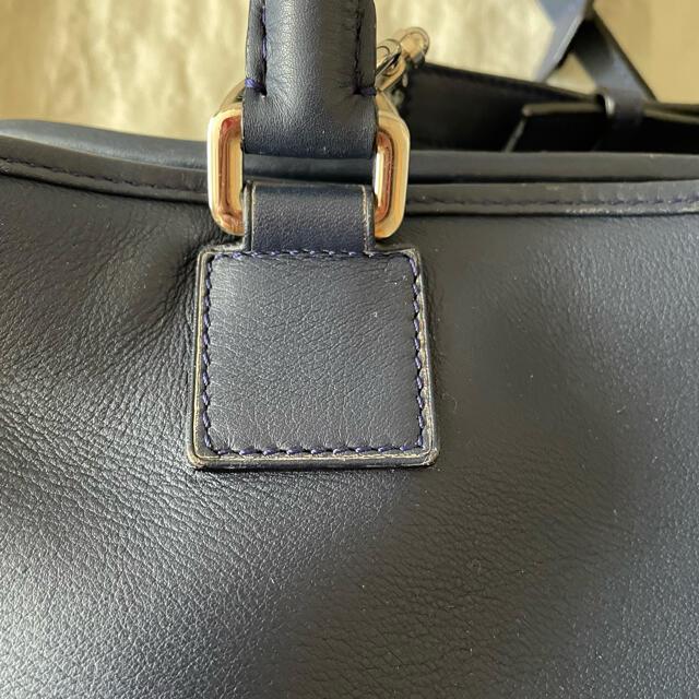 LOEWE(ロエベ)のロエベ  アマソナ 28 ネイビー マリン LOEWE 紺 バッグ シルバー金具 レディースのバッグ(ハンドバッグ)の商品写真