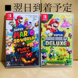 ニンテンドースイッチ(Nintendo Switch)の2台 ●スーパーマリオ 3Dワールド ●New スーパーマリオブラザーズ U(家庭用ゲームソフト)