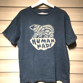 アベイシングエイプ(A BATHING APE)のヒューマンメイド  tシャツ インディゴブルー M(Tシャツ/カットソー(半袖/袖なし))