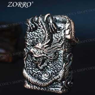 龍神 フルメタルジャケット オイルライター ZORRO ドラゴン zippo 龍(タバコグッズ)