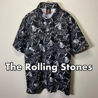 ☆美品☆ The Rolling Stones 半袖 ポロシャツ 総柄 Mサイズ(ポロシャツ)