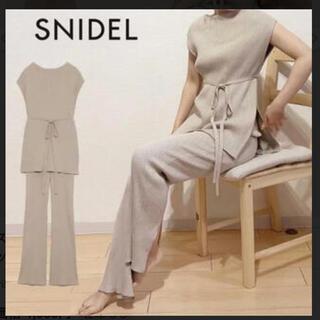 スナイデル(snidel)のsnidel  リブニットセットアップ(セット/コーデ)