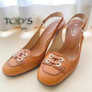 トッズ(TOD'S)の正規品 TOD'S トッズ レザーサンダル 22.5〜23㎝(サンダル)